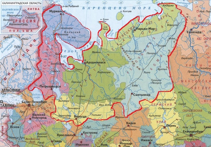 Европейский север России 🗺️ регионы и города, характеристика населения, флора и фауна, природные условия и ресурсы, проблемы и перспективы экономического развития