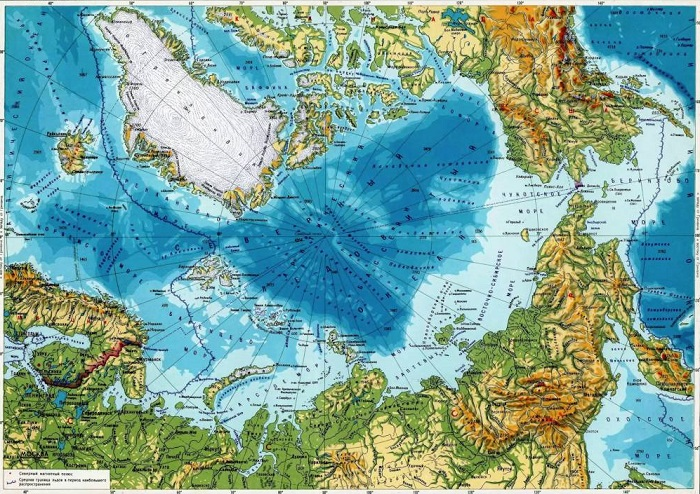 Арктика на карте