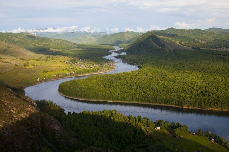 Река Енисей Исток описание течения достопримечательности -