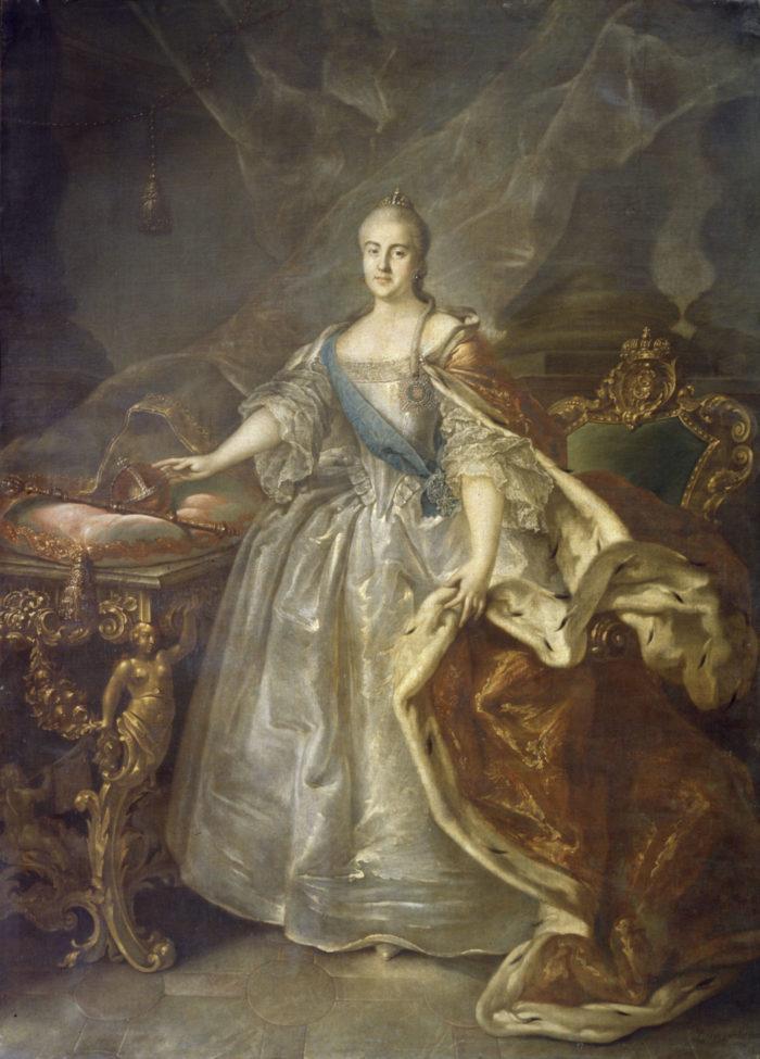 «Портрет Екатерины II». Иван Аргунов. 1762 год
