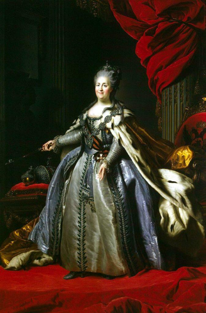 «Портрет Екатерины II». Ф.С. Рокотов. 1763 год