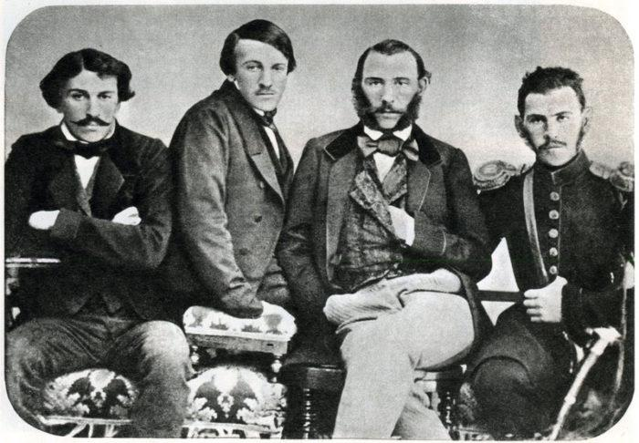 Братья Толстые Сергей, Николай, Дмитрий, Лев
