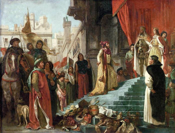 """Рис. 3. """"Возвращение Христофора Колумба"""". Э. Делакруа. 1838 год"""