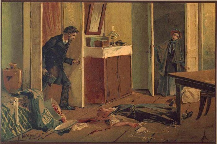 """Иллюстрация к роману """"Преступление и наказание"""" Николай Каразин, 1893"""
