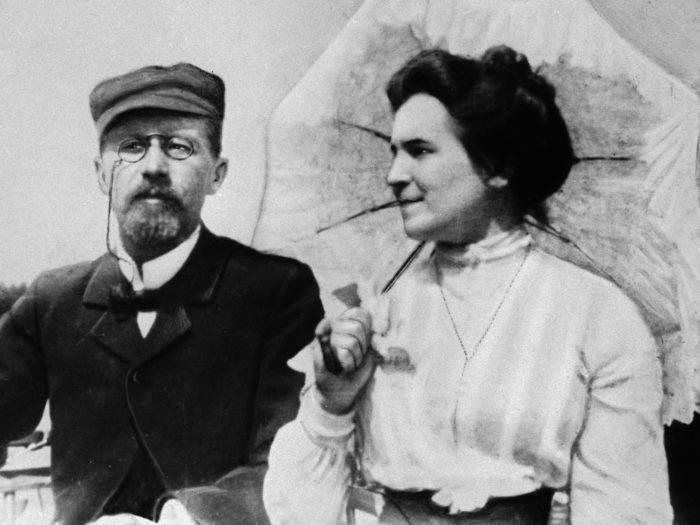 Рис. 5. Антон Чехов с супругой Ольгой Книппер