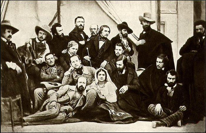 Рис. 7. Групповой дагерротип русских художников. Рим. 1845 год