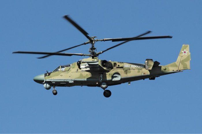 Рис. 3. Вертолет Ка-52 в полете