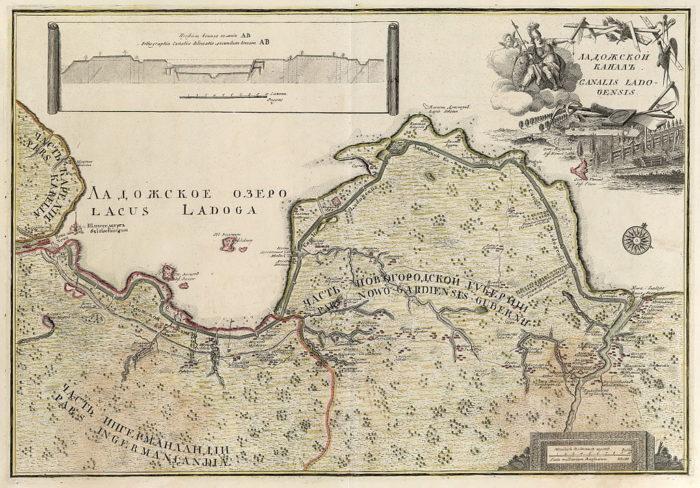 Рис. 8. Ладожский канал на карте
