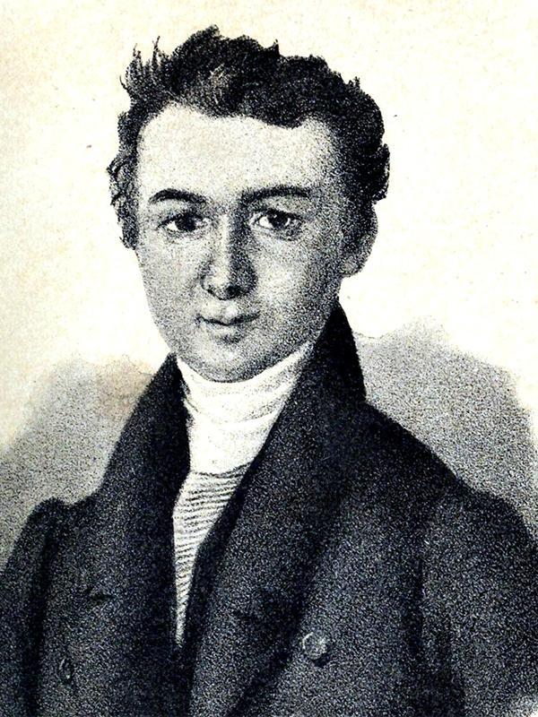 Рис. 2. Михаил Глинка в молодости. Я. Ф. Яненко, 1840-е годы