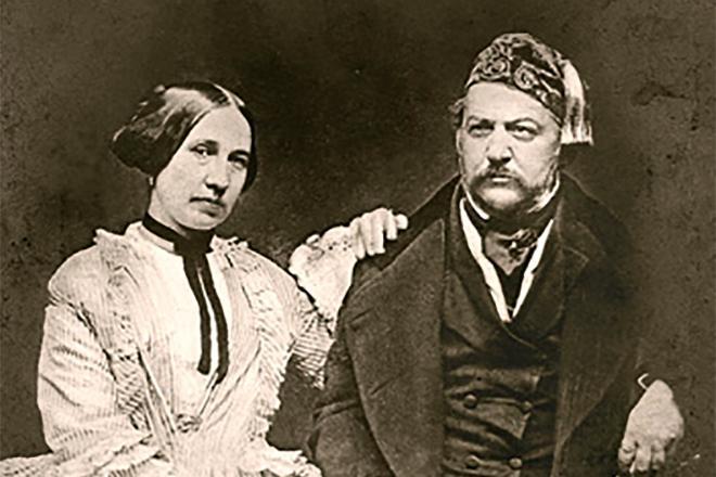 Рис. 4. Михаил Глинка с женой