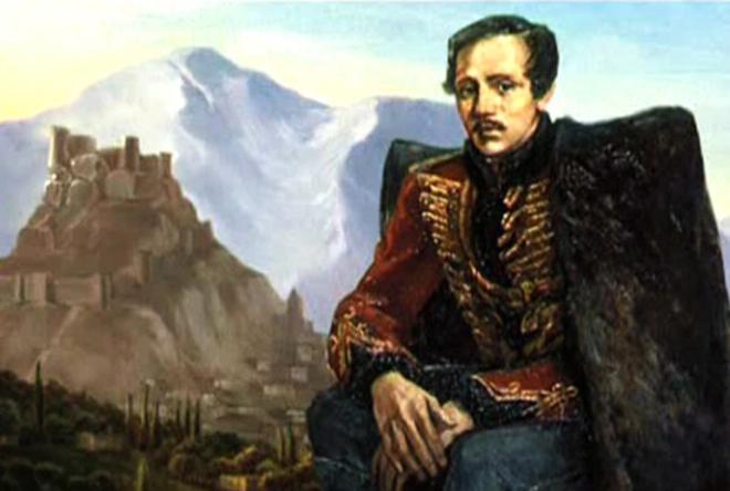 Рис. 3. Михаил Лермонтов на Кавказе