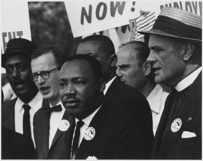 Рис. 3. М.Л. Кинг - лидер движения за гражданские права чернокожих в США