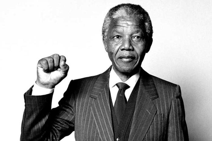 Рис. 1. Нельсон Мандела - активист в борьбе за права человека в период существования апартеида