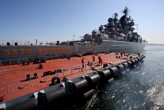 Рис. 6. Ракетный крейсер «Петр Великий»