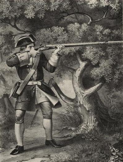 Рис. 5. Рядовой армейского пехотного полка в 1720—32 годов