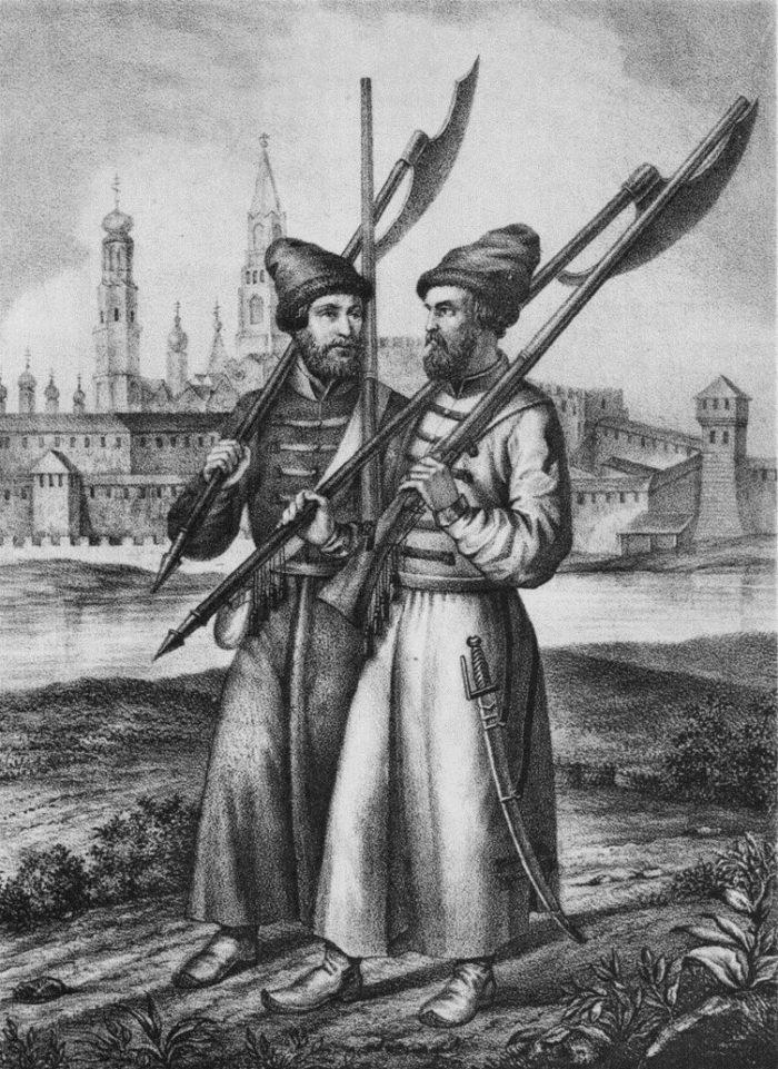 Рис. 6. Рядовые стрельцы в 1674 году