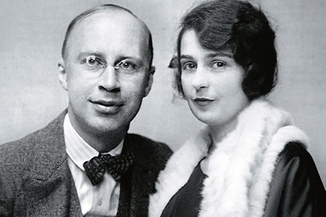 Рис. 4. Сергей Прокофьев и его первая жена Каролина