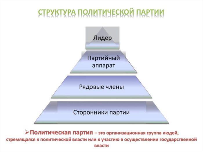 Рис. СтруРис. 1. Структура политической партииктура политической партии