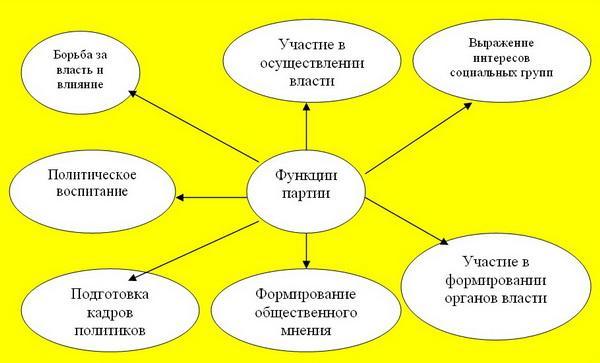 Рис. 3. Функции политической партии