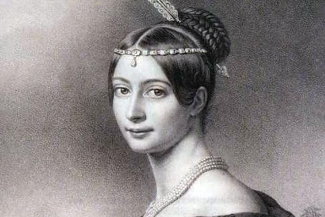 Рис. 5. Эрнестина фон Пфеффель, вторая жена Федора Тютчева