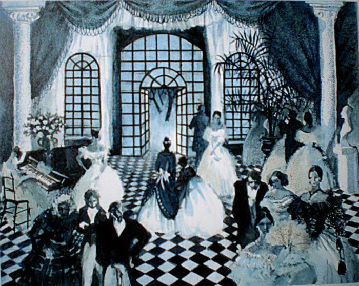 Рис. 1. «После бала», эскиз к иллюстрации В.Кожевниковой