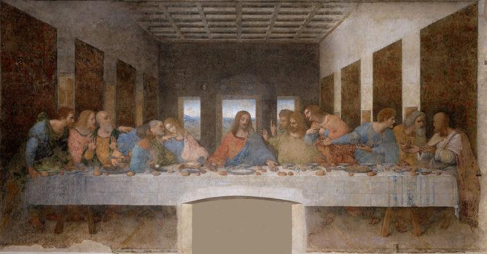 Рис. 1. «Тайная вечеря». Леонардо да Винчи. 1498 год