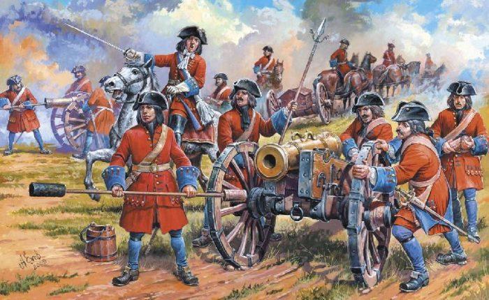 Рис. 4. Армия времен правления Петра Великого.