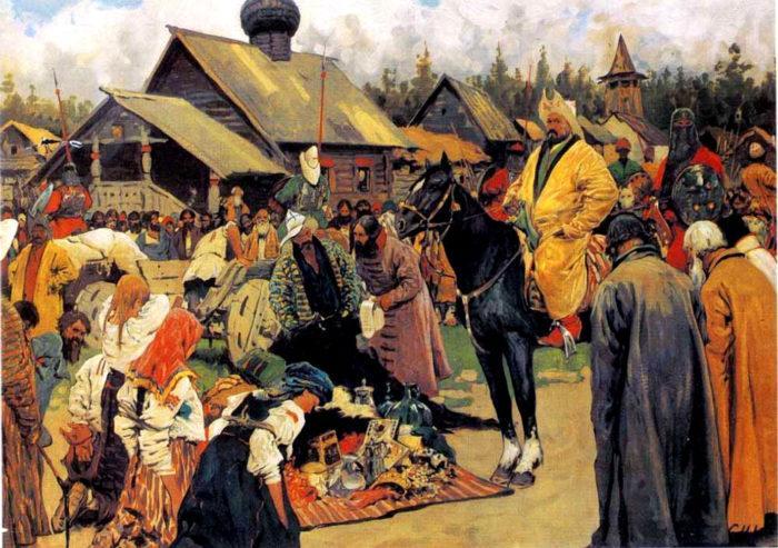 Рис. 1. Баскаки. С. В. Иванов. 1909 год
