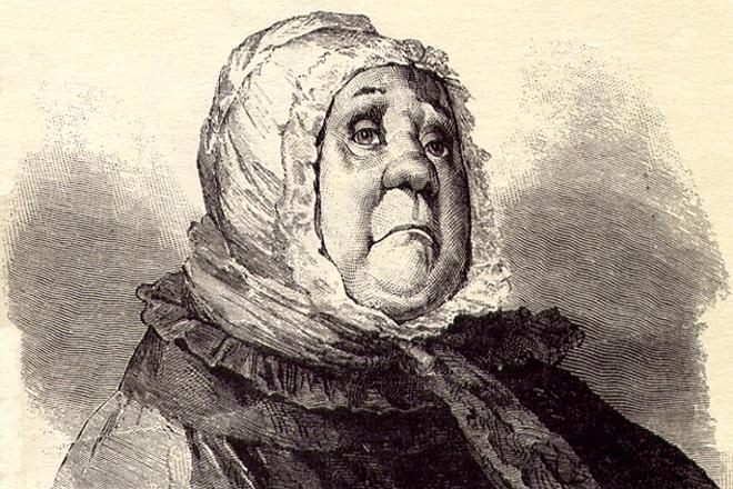 Рис. 1. Настасья Петровна Коробочка. В. Е. Маковский, 1901 год