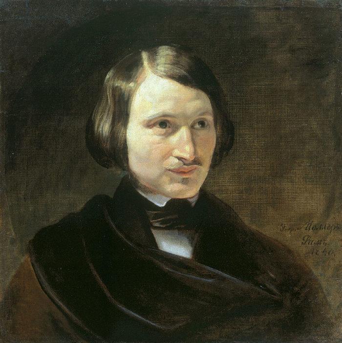 Рис. 1. Николай Гоголь. автор Ф. А. Моллер. 1840 год