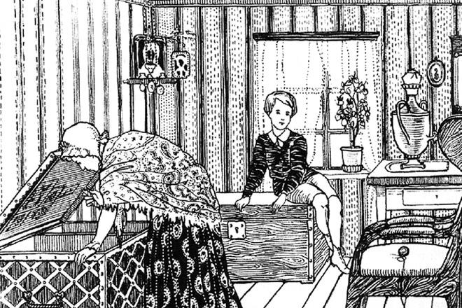 Рис. 1. Николенька Иртеньев. К. А. Клементьева. 1978 год