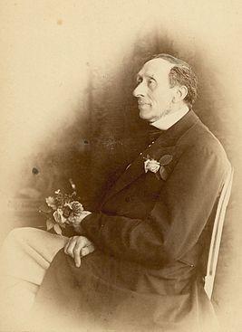Рис. 1. Ганс Христиан Андерсен. Фото 30 июня 1870 года