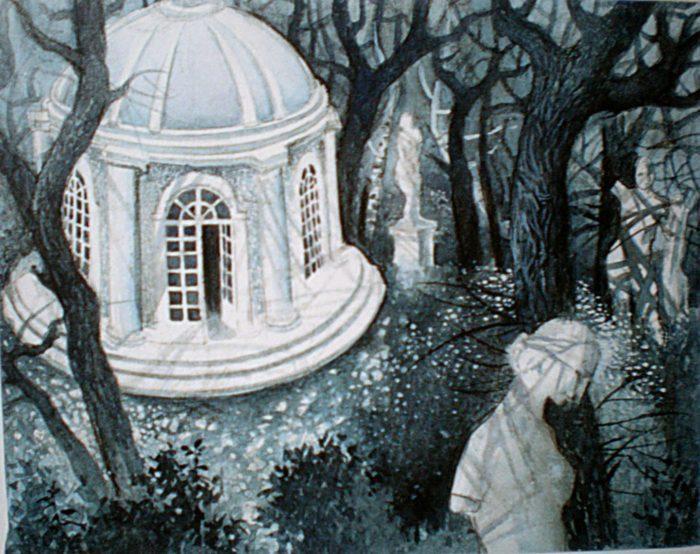 Рис. 2. «После бала» эскиз к иллюстрации В.Кожевниковой
