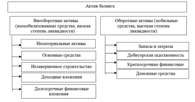 Рис. 2. Актив бухгалтерского баланса