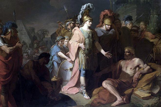 Рис. 2. Александр Македонский и Диоген. Жан-Батист Реньо. 1818 год