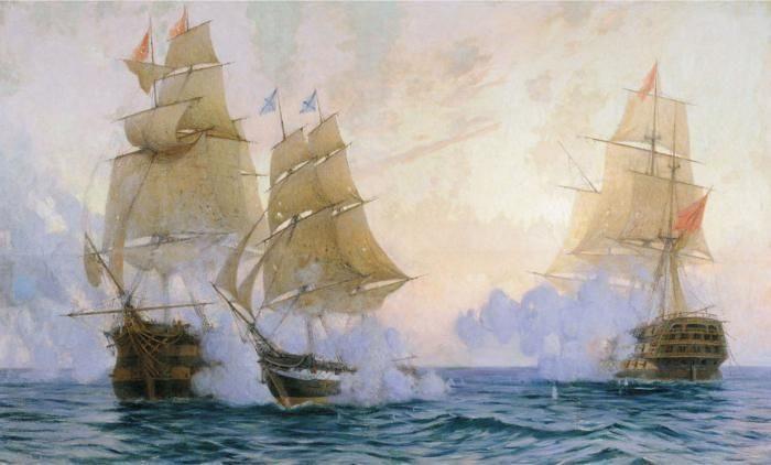 Рис. 6. Флот времен правления Петра Великого.