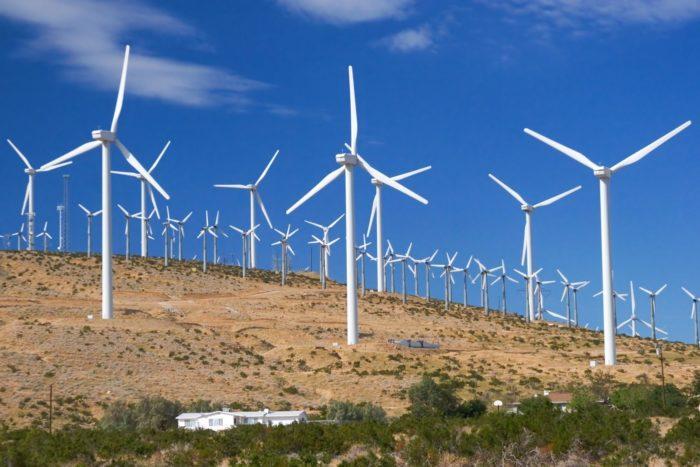 Рис. 3. Ветряные электростанции Техаса