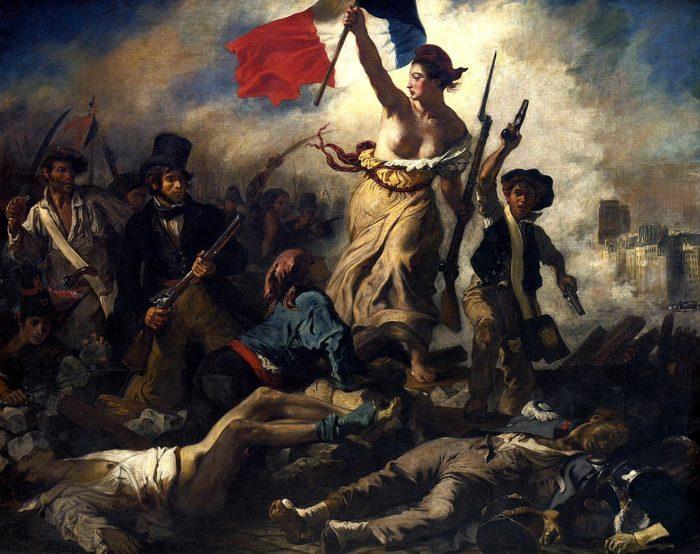 """Рис. 3. """"Свобода, ведущая народ"""". Эжен Делакруа. 1830 год"""