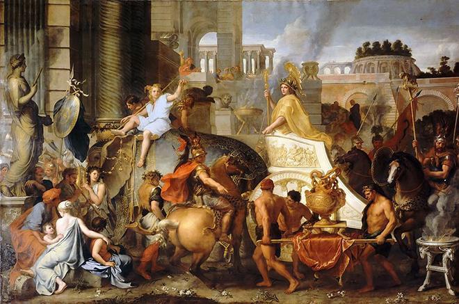 Рис. 5. Александр Македонский вступает в Вавилон. Лебрен. 1664 год