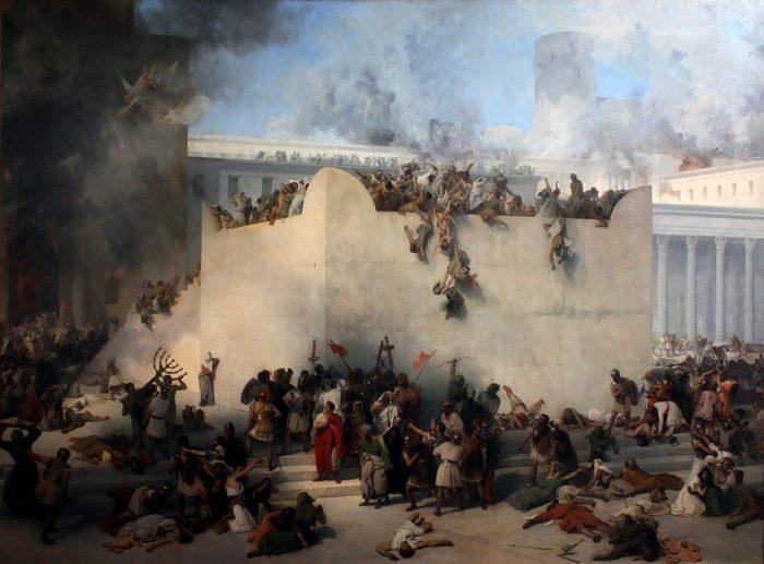 """Рис. 4. """"Разрушение иерусалимского Храма"""". Ф. Хайеса. 1867 год"""