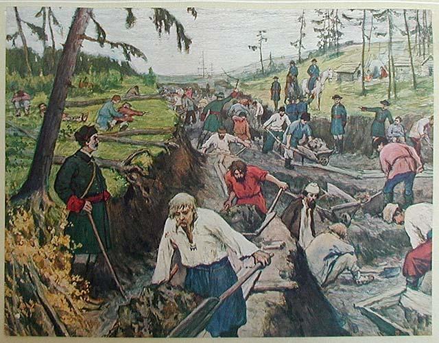 Рис. 7. Прорытие Ладожского канала