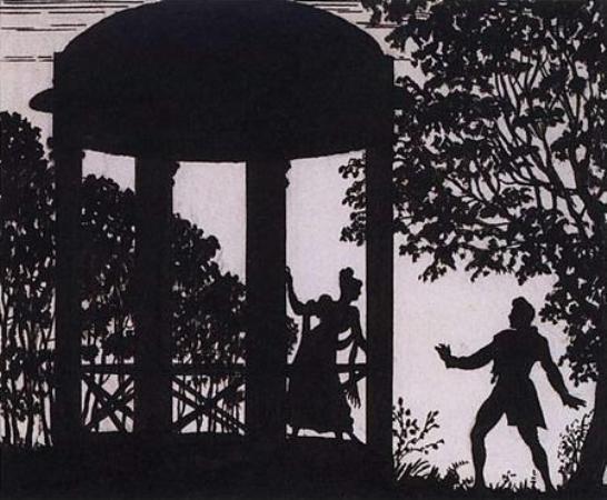 Рис. 6. В беседке у ручья. Б. М. Кустодиев. 1919 год
