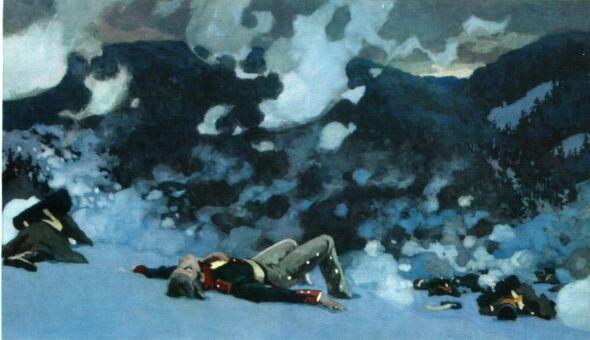 Рис. 9. Раненый князь Андрей на Праценских высотах. Алексей Николаев