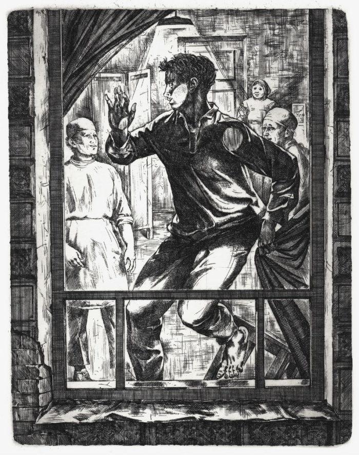 Шизофрения как и было сказано, художник Александра Федорова, 1979 год