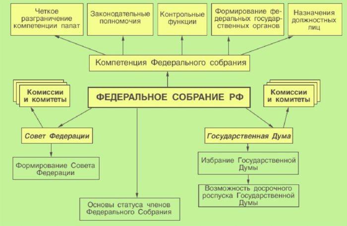 Рис. 2. Законодательная власть Российской Федерации