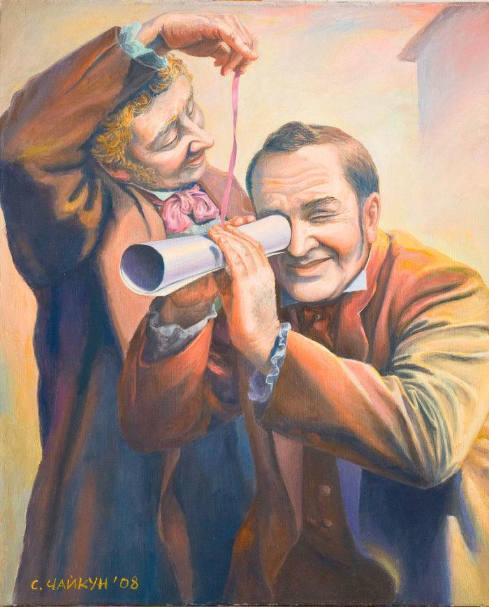 Иллюстрация к произведению Николая Гоголя «Мертвые души». C.Чайкун. 2008