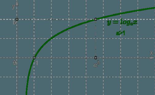 Рис. 1. График логарифмической функции при a > 1