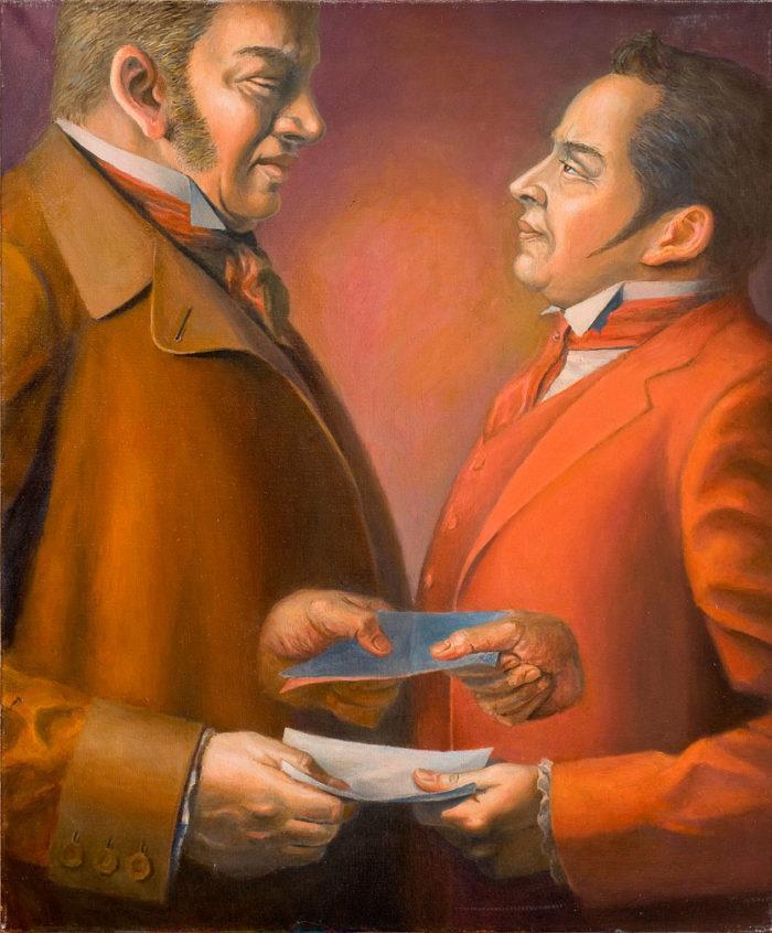 Иллюстрация к произведению Николая Гоголя «Мертвые души». C.Чвйкун. 2008