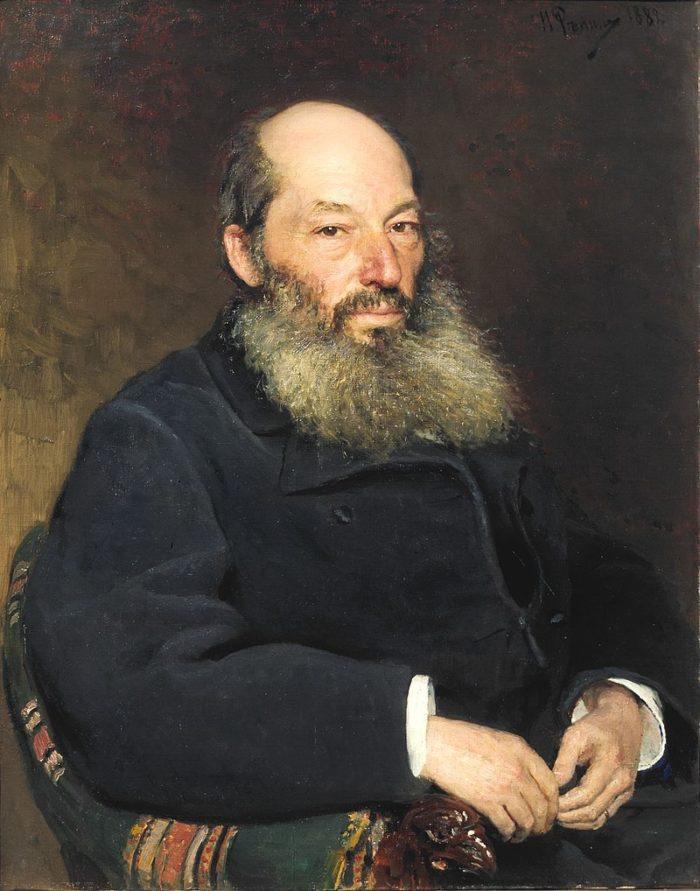 Рис. 1. Афанасий Афанасьевич Фет. Портрет работы И. Репина. 1882 год