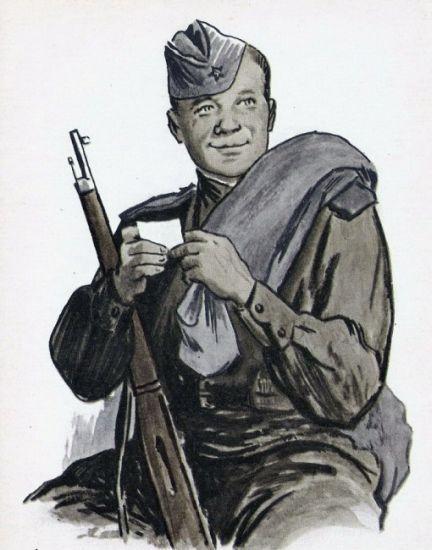 Рис. 1. Василий Теркин. О. Верейский. 1943-46 гг.